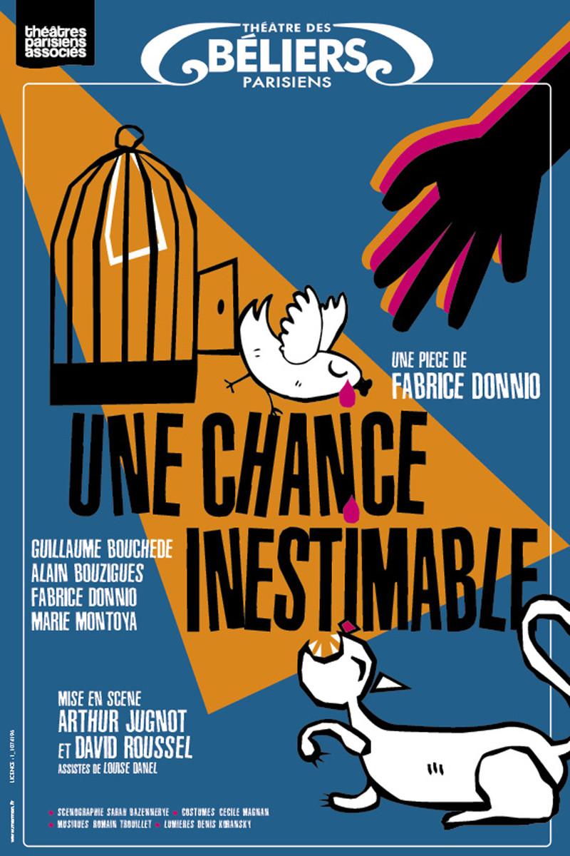 AFFICHE-Virginie-Stucki-Recup-And-Cut-Une-Chance-Inestimable-Théâtre des-Béliers-Parisiens
